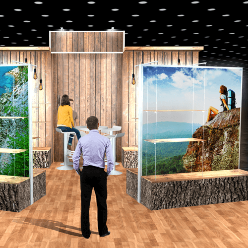 3D Trade Show Booth Render