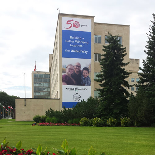 Winnipeg Signage - Great West Life Large Outdoor Banner