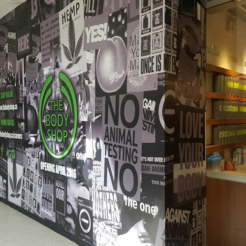 Regina Signage - The Body Shop